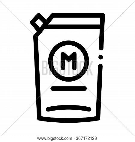 Pack Of Mayonnaise With Dispenser Icon Vector. Pack Of Mayonnaise With Dispenser Sign. Isolated Cont