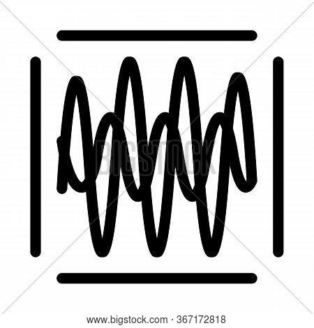 Sound Diagnostics Icon Vector. Sound Diagnostics Sign. Isolated Contour Symbol Illustration