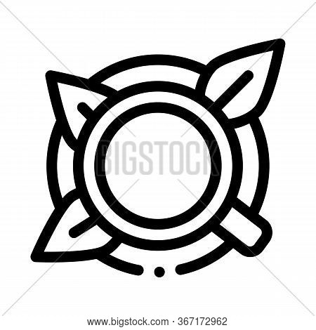 Cup Of Tea With Saucer Top View Icon Vector. Cup Of Tea With Saucer Top View Sign. Isolated Contour