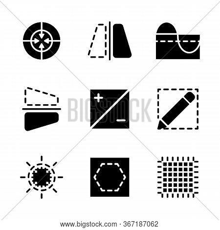 Photo Editor Icon Set Include Edit, Focus, Image, Target, Flip, Mirror, Curve, Graph, Filter, Calcul