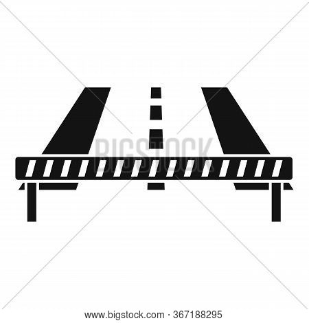 Barrier On Road Icon. Simple Illustration Of Barrier On Road Vector Icon For Web Design Isolated On