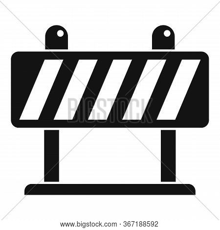 Safety Barricade Icon. Simple Illustration Of Safety Barricade Vector Icon For Web Design Isolated O