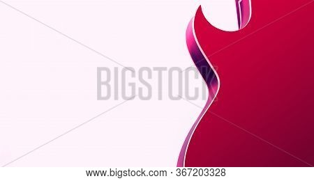 Pink Electric Rock Guitar Smooth Shape With Sharp Tenon Silhouette
