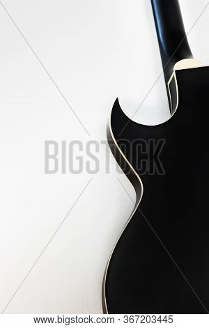 Black Electric Rock Guitar Smooth Shape Silhouette