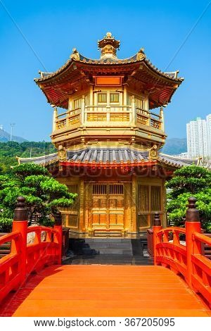 Pavilion Of Absolute Perfection At The Nan Lian Garden, A Chinese Classical Garden In Diamond Hill I