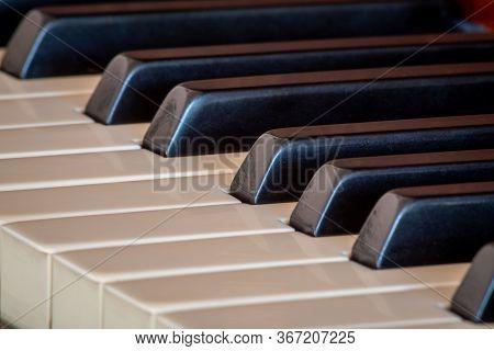 Ebony And Ivory Piano Keys At An Angle