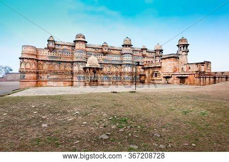 Gwalior Fort Or Gwalior Qila Is A Hill Fort In Gwalior City In Madhya Pradesh State, Central India