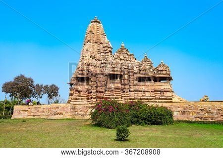 Khajuraho Is A Group Of Hindu Temples And Jain Temples At Khajuraho Town In Madhya Pradesh State In