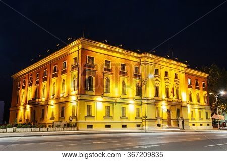 Ministry Of Internal Affairs Building Is Located Near The Skanderbeg Square In Tirana City Centre In