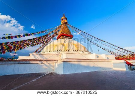 Boudhanath Great Stupa Is The Largest Buddhist Stupas In Kathmandu City In Nepal