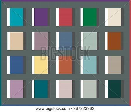 Colorful Trend Palette Vector Illustration Set In 3 Colors Fresh Design Ideas. Premium Palettes For