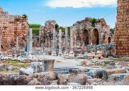 Perge Was An Ancient Anatolian City, Now Located Near The Antalya City In Turkey