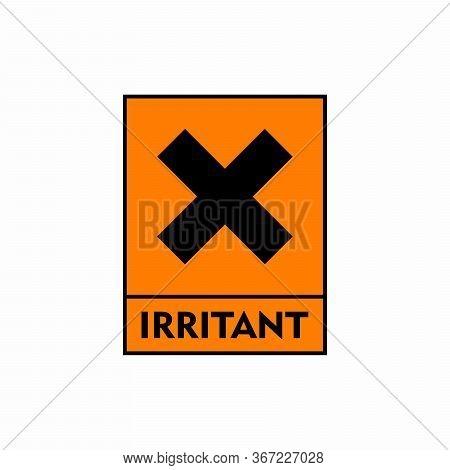 Irritant Hazard Sign Or Symbol Vector Design Isolated On White Background