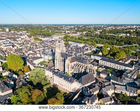 Tours Aerial Panoramic View. Tours Is A City In The Loire Valley Of France