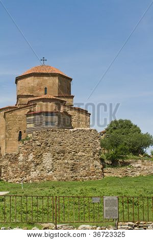 Panorama Of Georgian Orthodox Church Of The 6Th Century Near Mtskheta, Jvari