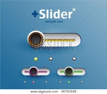 Set of sliders