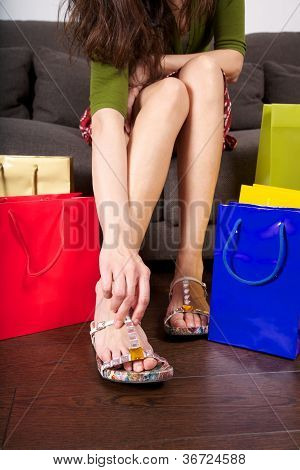 Try On Shoes At Shop
