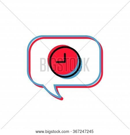 Message Waiting Icon. Message Waiting Texting Chat Message Bubble Vector Black Line Art Symbols On W