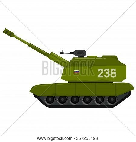 Self Propelled Artillery Caterpillar Tracks Military Weapon
