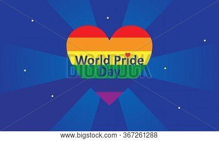 World Pride Day Rainbow Background Logo Vector