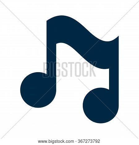 Music Note Icon Stock Vector Illustration Flat Design, Illustration Vector Icon Design