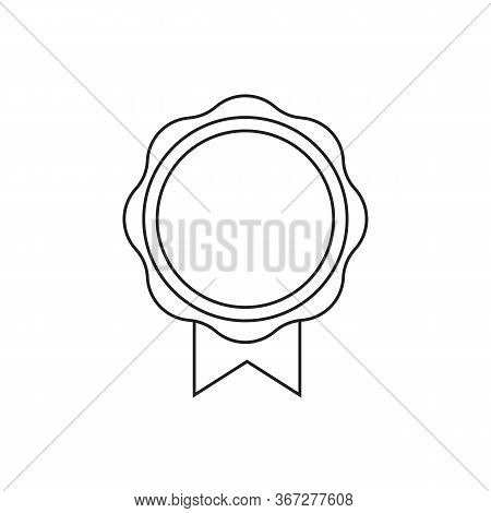 Sale Tag. Blank Store Sticker Layout For Discount Proposition. Round Offer Badge With Ribbons And Co