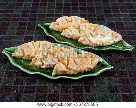 Deep Fried Korean Dumplings (mandu), Filled With Beef