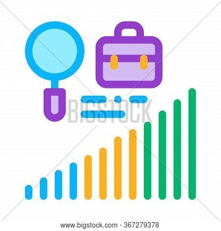 Career Advancement Research Icon Vector. Career Advancement Research Sign. Color Symbol Illustration