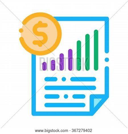 Monetary Statement Document Icon Vector. Monetary Statement Document Sign. Color Symbol Illustration