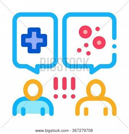 Reception At Dermatologist Doctor Consultation Icon Vector. Reception At Dermatologist Doctor Consul