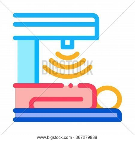 Human Stomach Scanner Icon Vector. Human Stomach Scanner Sign. Color Symbol Illustration