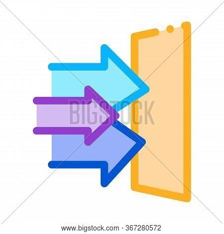 Sound Coming In Door Icon Vector. Sound Coming In Door Sign. Color Symbol Illustration