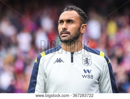 London, England - August 31, 2019: Ahmed Elmohamady Of Villa Pictured Ahead Of  The 2019/20 Premier