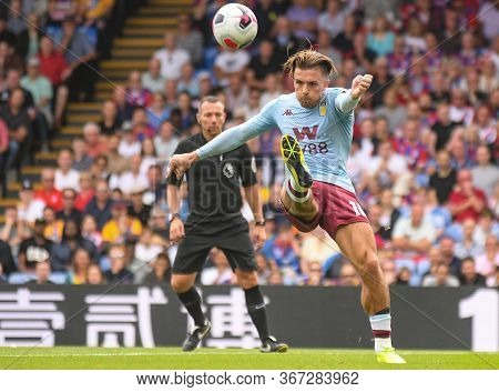 London, England - August 31, 2019: Jack Grealish Of Villa Pictured During The 2019/20 Premier League