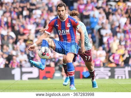 London, England - August 31, 2019: Luka Milivojevic Of Palace Pictured During The 2019/20 Premier Le