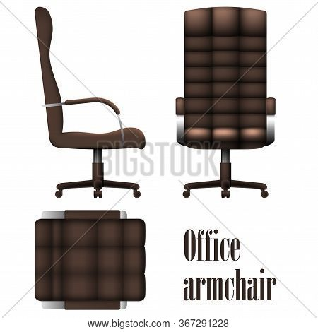 Deluxe Office Armchair Isolated On White Background. Vector Illustration
