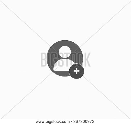 Add New User Account Or Add New Friend Line Art Vector Icon For Apps And Websites