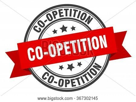Co-opetition Label. Co-opetitionround Band Sign. Co-opetition Stamp