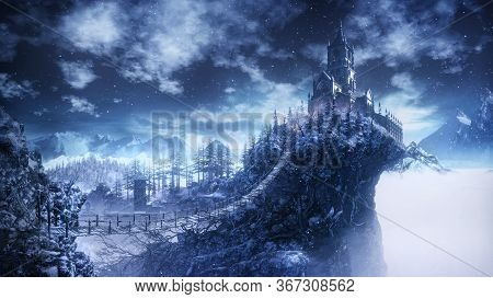 Castle Architecture Incredible Fog Fantasy Epic New