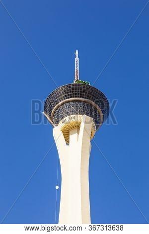 Las Vegas, Usa - June 15, 2012:  Stratosphere Tower In Las Vegas. Stratosphere Tower, 1,149 Ft (350.