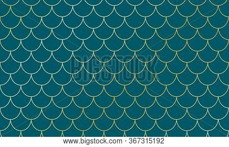 Mermaid Scales. Fish Squama. Kawaii Pattern. Watercolor Background. Mermaid Pattern. Color Vector Il