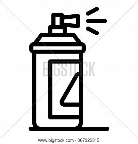 Paint Spray Icon. Outline Paint Spray Vector Icon For Web Design Isolated On White Background