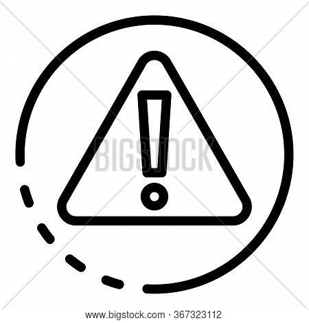Danger Exclamation Sign Icon. Outline Danger Exclamation Sign Vector Icon For Web Design Isolated On