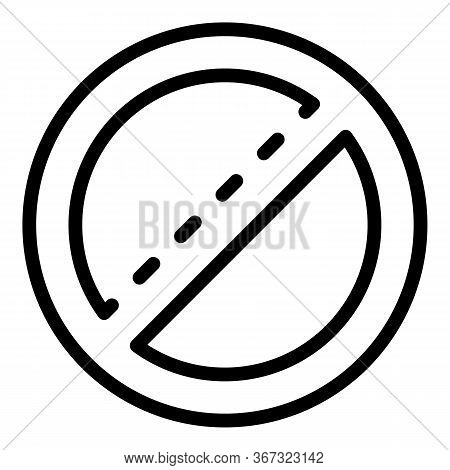 Restricted Biohazard Icon. Outline Restricted Biohazard Vector Icon For Web Design Isolated On White