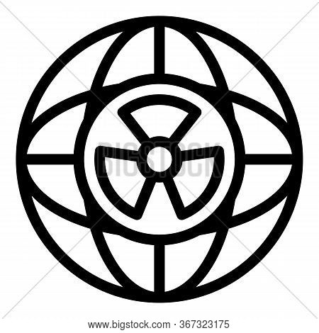 Global Nuclear Program Icon. Outline Global Nuclear Program Vector Icon For Web Design Isolated On W