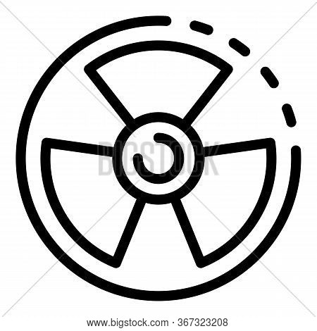 Nuclear Sign Icon. Outline Nuclear Sign Vector Icon For Web Design Isolated On White Background