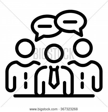 Foreign Language Teacher Icon. Outline Foreign Language Teacher Vector Icon For Web Design Isolated