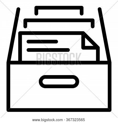 Investigator Folder Icon. Outline Investigator Folder Vector Icon For Web Design Isolated On White B
