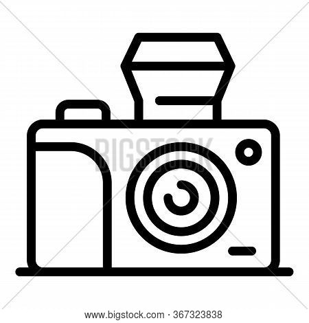 Investigator Camera Icon. Outline Investigator Camera Vector Icon For Web Design Isolated On White B