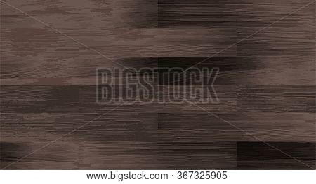 Realistic Wood Textured Seamless Pattern Dark Gray. Wooden Board, Natural Brown Floor Or Wall Repeat